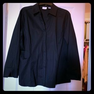Riders by Lee Black button up shirt